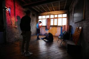Up & Away: Director & DoP at work